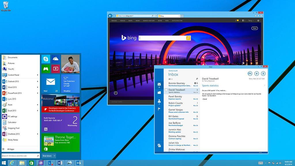 Windows 8.1の将来提供予定のプレビュー画面